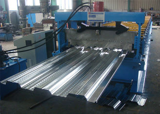 High Strength / Fastness Portable Metal Roofing Machine With Single Chain Drive