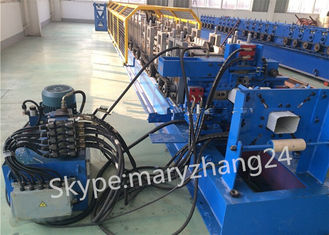 7.5kw Main Motor Downspout Roll Forming Machine Controlled by PLC with Hydraulic System