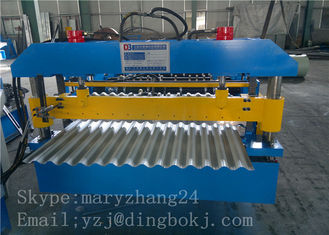Corrugated Metal Panel Roll Forming Machine with 1250mm Feeding width for Simple House