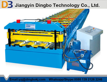 Metal Deck Roll Forming Machinery with High Speed Running with Hydraulic System